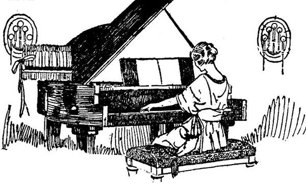 钢琴老师简笔画